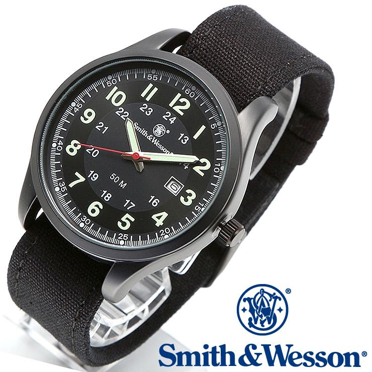 [送料無料] [正規品] スミス&ウェッソン Smith & Wesson ミリタリー腕時計 CADET WATCH BLACK/GREEN SWW-369-GR