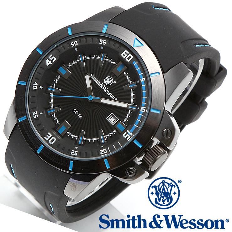 [送料無料] [正規品] スミス&ウェッソン Smith & Wesson ミリタリー腕時計 TROOPER WATCH BLUE/BLACK SWW-397-BL
