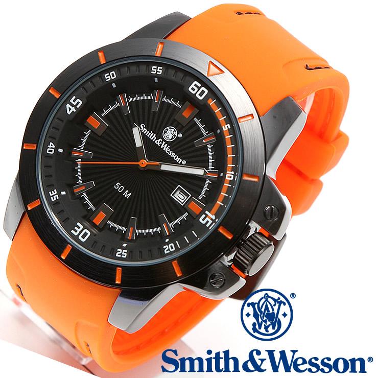 [送料無料] [正規品] スミス&ウェッソン Smith & Wesson ミリタリー腕時計 TROOPER WATCH ORANGE/BLACK SWW-397-OR