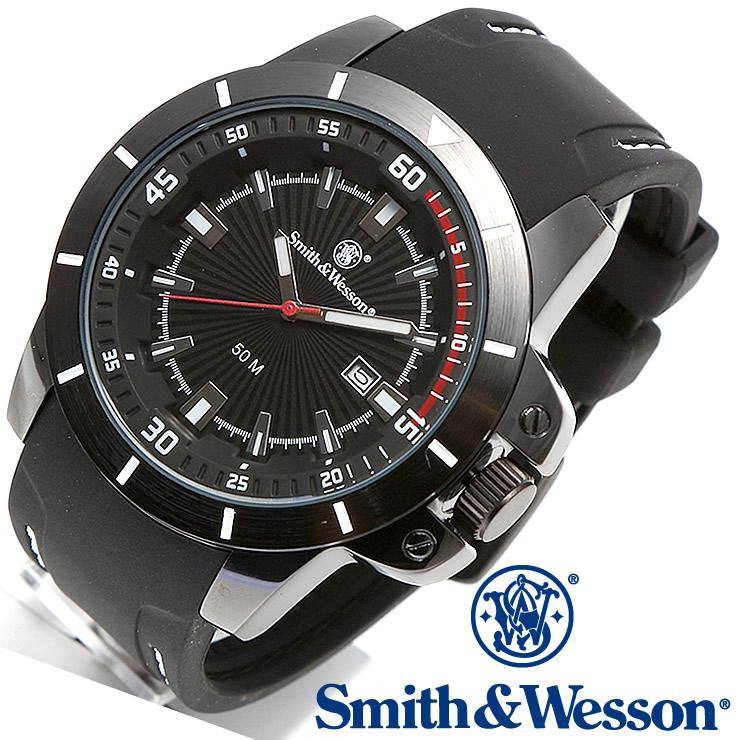 [送料無料] [正規品] スミス&ウェッソン Smith & Wesson ミリタリー腕時計 TROOPER WATCH WHITE/BLACK SWW-397-WH