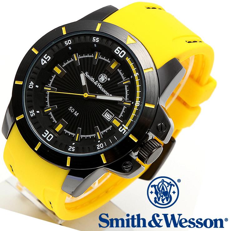 [送料無料] [正規品] スミス&ウェッソン Smith & Wesson ミリタリー腕時計 TROOPER WATCH YELLOW/BLACK SWW-397-YW