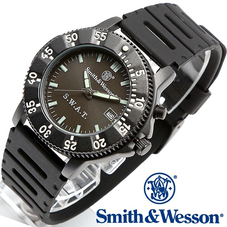 [送料無料] [正規品] スミス&ウェッソン Smith & Wesson ミリタリー腕時計 SWAT WATCH BLACK SWW-45