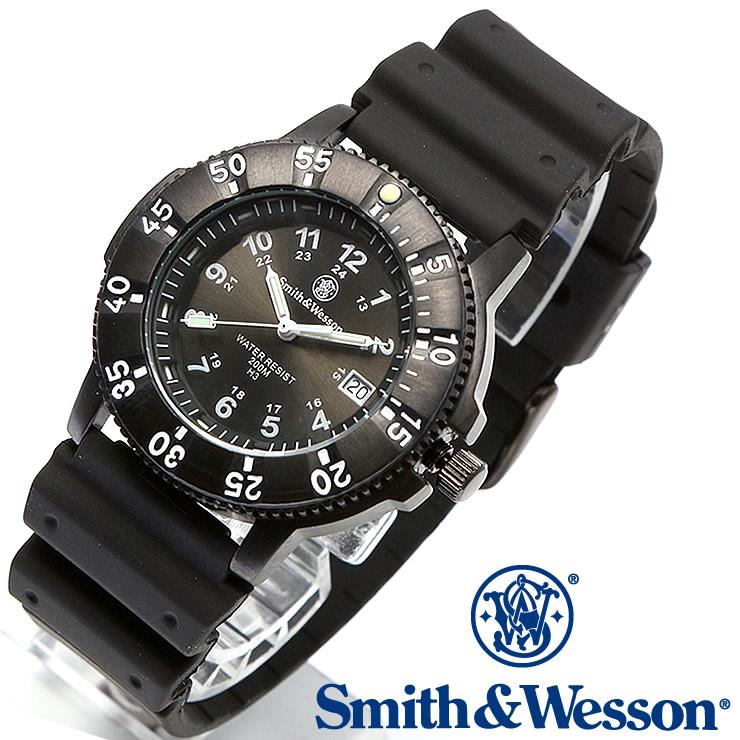 [送料無料] [正規品] スミス&ウェッソン Smith & Wesson スイス トリチウム ミリタリー腕時計 SWISS TRITIUM SPORT WATCH BLACK SWW-450-BLK