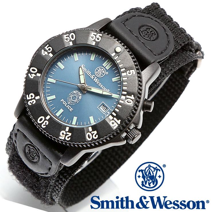 [送料無料] [正規品] スミス&ウェッソン Smith & Wesson ミリタリー腕時計 455 POLICE WATCH BLUE/BLACK SWW-455P