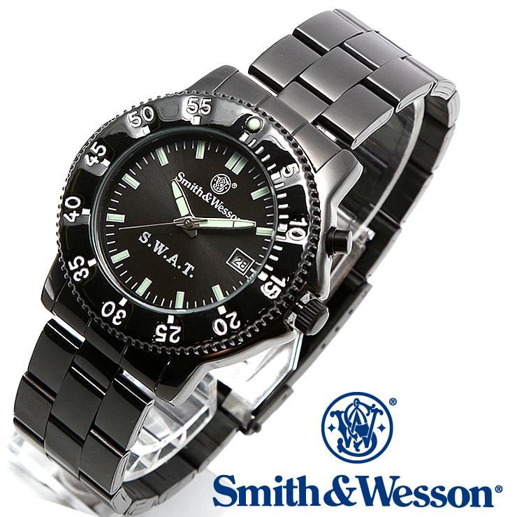 [送料無料] [正規品] スミス&ウェッソン Smith & Wesson ミリタリー腕時計 SWAT WATCH BLACK SWW-45M