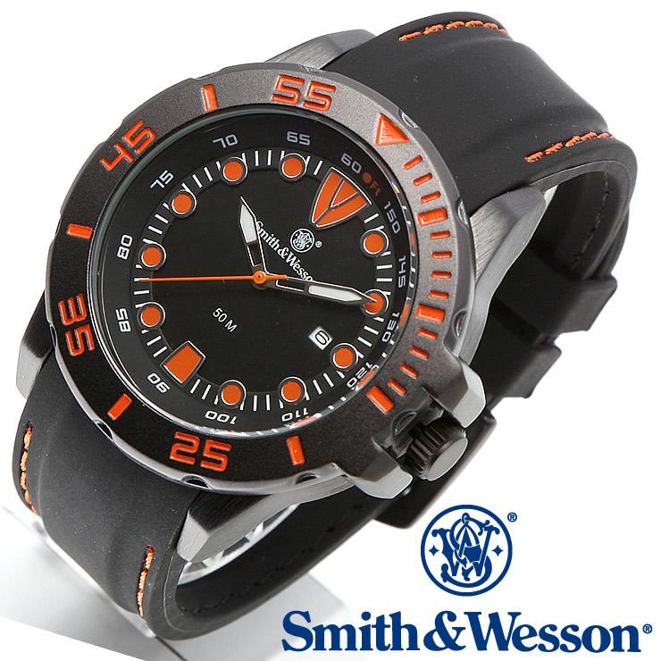 [送料無料] [正規品] スミス&ウェッソン Smith & Wesson ミリタリー腕時計 SCOUT WATCH ORANGE/BLACK SWW-582-OR