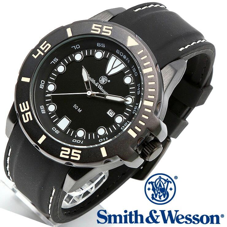 [送料無料] [正規品] スミス&ウェッソン Smith & Wesson ミリタリー腕時計 SCOUT WATCH WHITE/BLACK SWW-582-WH