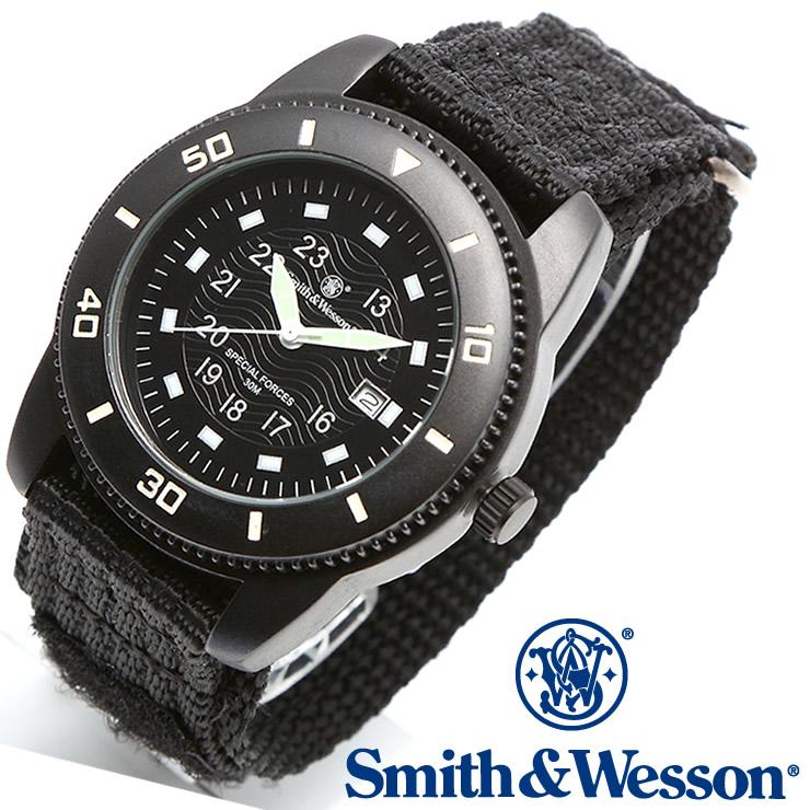 [送料無料] [正規品] スミス&ウェッソン Smith & Wesson ミリタリー腕時計 COMMANDO WATCH BLACK SWW-5982