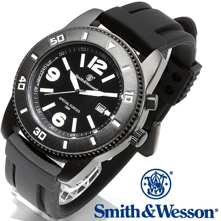 [送料無料] [正規品] スミス&ウェッソン Smith & Wesson ミリタリー腕時計 PARATROOPER WATCH BLACK SWW-5983