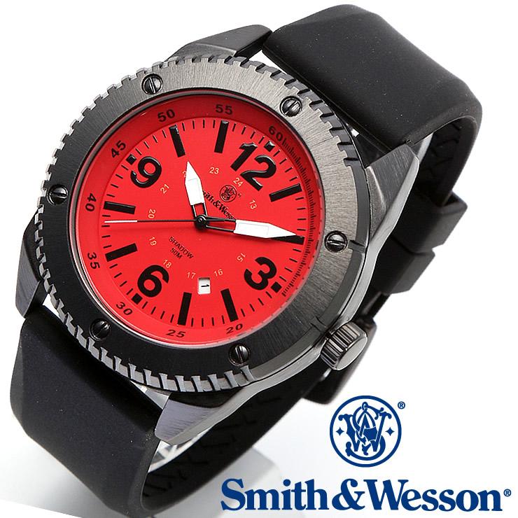 [送料無料] [正規品] スミス&ウェッソン Smith & Wesson ミリタリー腕時計 KNIVES WATCH RED/BLACK SWW-693-RD