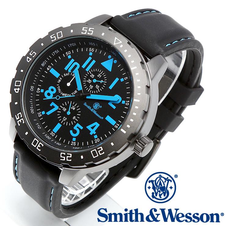 [送料無料] [正規品] スミス&ウェッソン Smith & Wesson ミリタリー腕時計 CALIBRATOR WATCH BLUE/BLACK SWW-877-BL