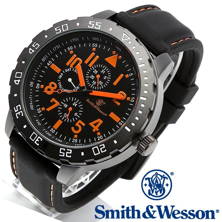 [送料無料] [正規品] スミス&ウェッソン Smith & Wesson ミリタリー腕時計 CALIBRATOR WATCH ORANGE/BLACK SWW-877-OR