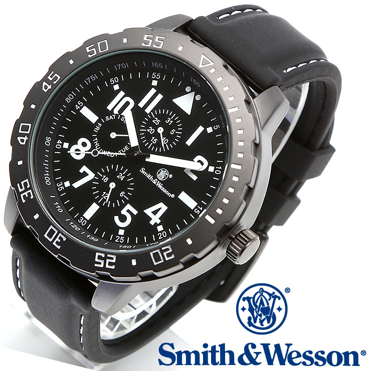 [送料無料] [正規品] スミス&ウェッソン Smith & Wesson ミリタリー腕時計 CALIBRATOR WATCH WHITE/BLACK SWW-877-WH [あす楽] [ラッピング無料]
