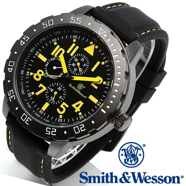 [送料無料] [正規品] スミス&ウェッソン Smith & Wesson ミリタリー腕時計 CALIBRATOR WATCH YELLOW/BLACK SWW-877-YW