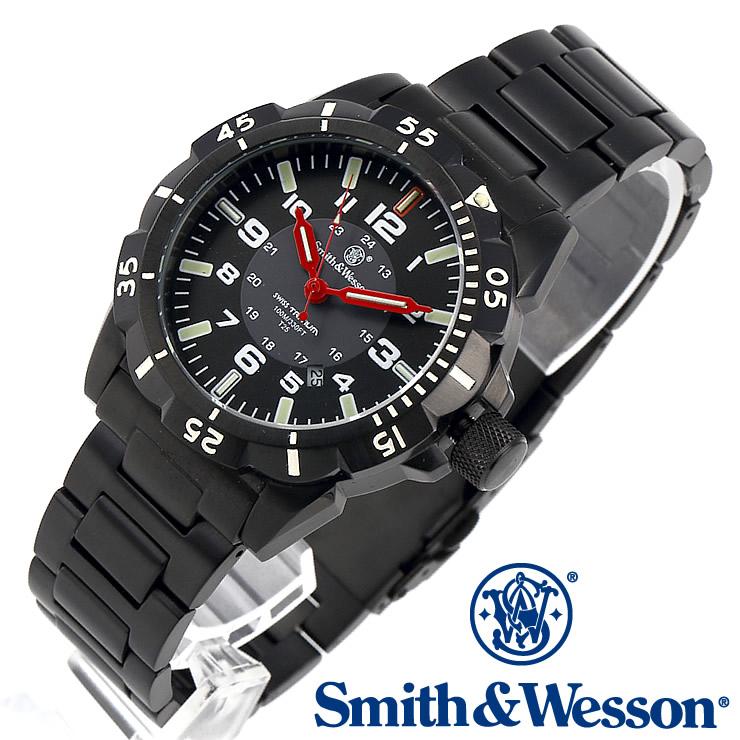 [送料無料] [正規品] スミス&ウェッソン Smith & Wesson スイス トリチウム ミリタリー腕時計 EMISSARY WATCH BLACK SWISS TRITIUM SWW-88-B