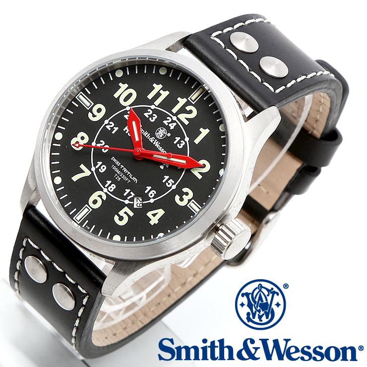 [送料無料] [正規品] スミス&ウェッソン Smith & Wesson ミリタリー腕時計 MUMBAI LAMPLIGHTER WATCH BLACK/SILVER SWW-GRH-1