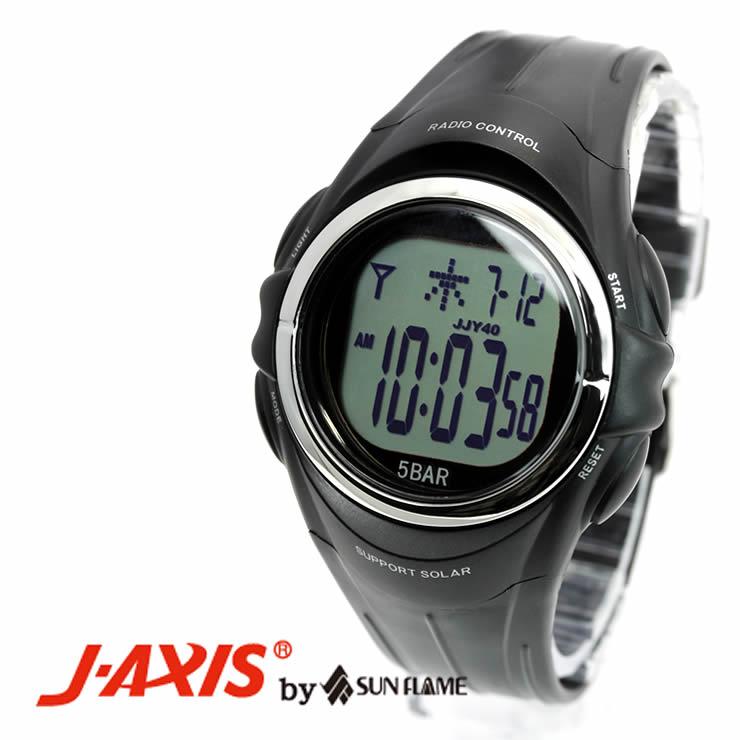 J-AXISメンズ腕時計サンフレイムSRC01-BK