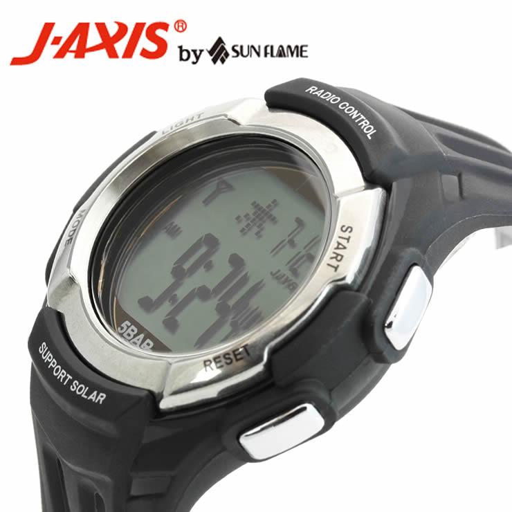 J-AXISメンズ腕時計サンフレイムSRC03-BK