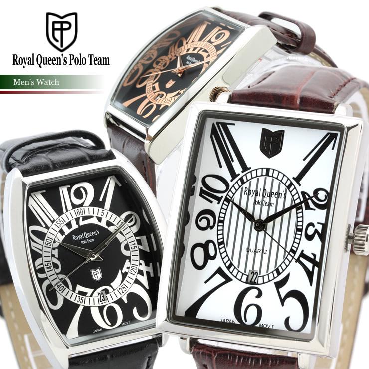 ロイヤルクイーンズポロチーム腕時計メンズ