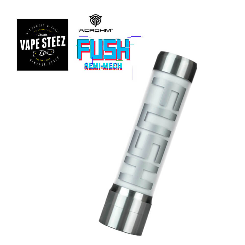 電子たばこ MOD ACROHM FUSH Semi-Mech MOD【 半メカニカル 】【 LED 】【 チューブ 】【 18650バッテリー 】【 VAPE 】