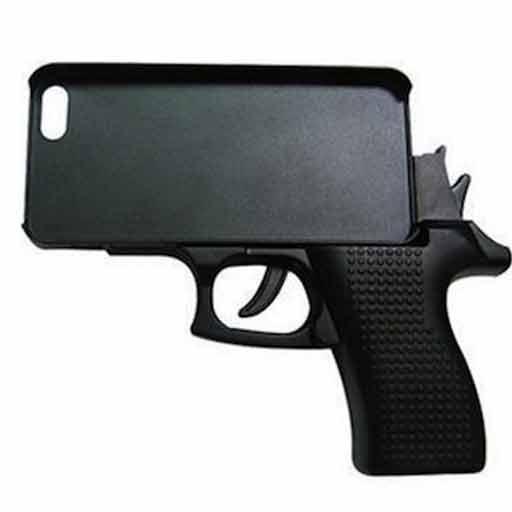 Vaps(ヴァップス)ハンドガン型 iPhone6Plus用ケース ブラック ピストル型/拳銃型 MI-HGCASE-2-BK[メール便発送、送料無料、代引不可][iPhone・ipad] 02P03Dec16
