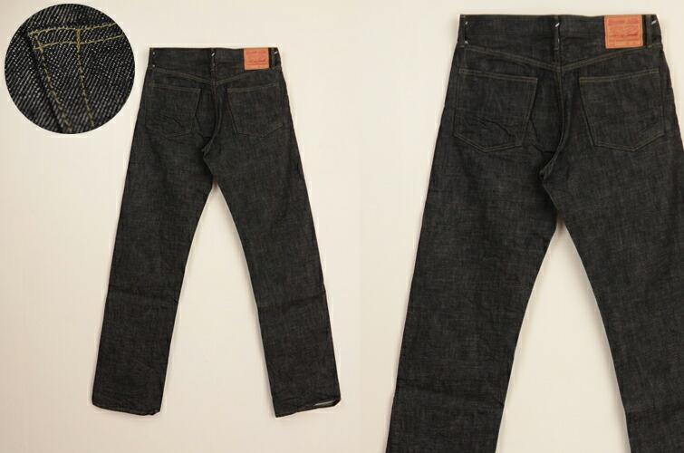 メンズ 【BLTOM】【ブルトム】オリジナルストレート ワンウォッシュ ブラック B-801 の画像12