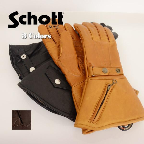 メンズ Schott ショット 3109056[ro]グローブ 手袋 WINTER GLOVE LONG ウィンターグローブ ロング の画像4