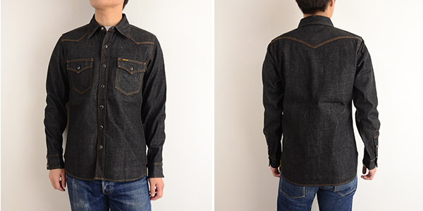 メンズ IRON HEART アイアンハート IHSH-33[ay]12oz One Wash Denim Western Shirt の画像6