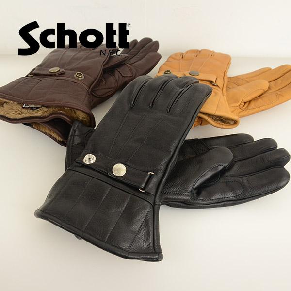 メンズ Schott ショット 3119034 [ro] グローブ WINTER GLOVE MIDDLE ウィンターグローブ ミドル の画像4