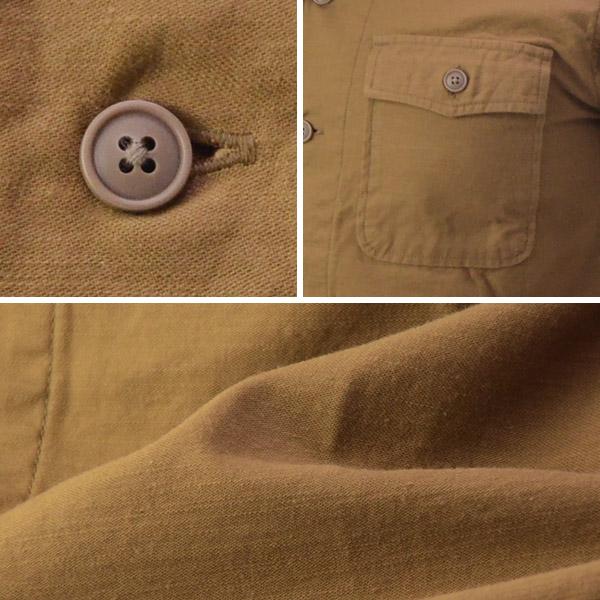 桃太郎ジーンズ モモタロウジーンズ MOMOTARO JEANS 05-146[a7w]ルーズバックサテン ミリタリーシャツ 長袖 の画像3