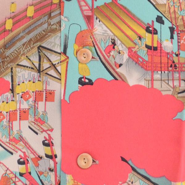 SUN SURF サンサーフ SS34666 スペシャルアロハシャツ『TENJIN MATSURI』Special Edition S/S HAWAIIAN SHIRT 和柄 の画像3