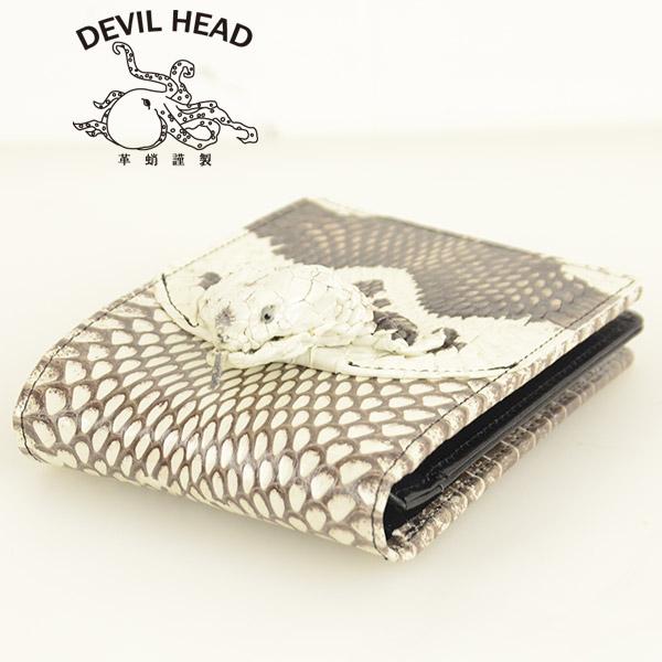 メンズ 革蛸 DEVIL HEAD デビルヘッド(小銭入れ有)[ay]2013新年 巳年モデル コブラヘッド の画像4