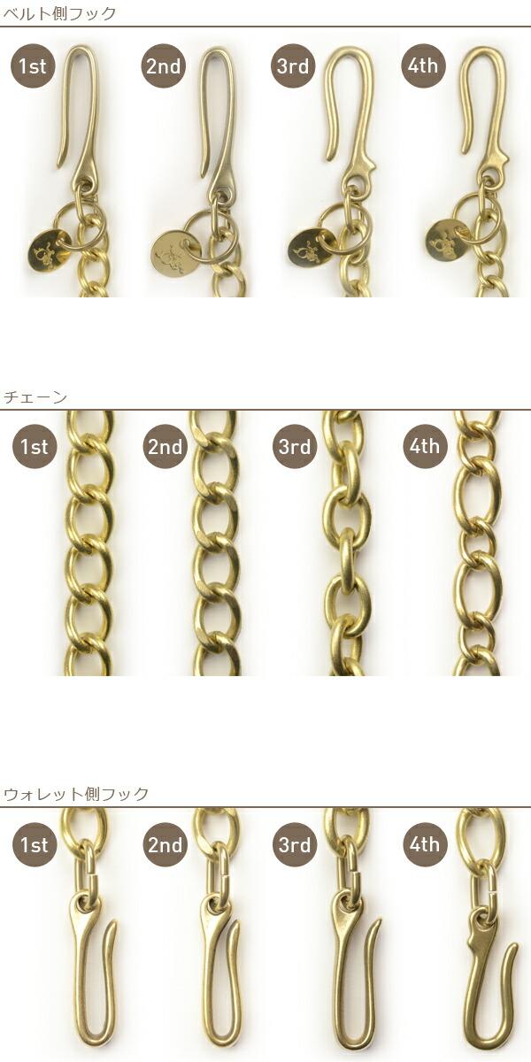 メンズ 【革蛸】オリジナル ブラスウォレットチェーン の画像5
