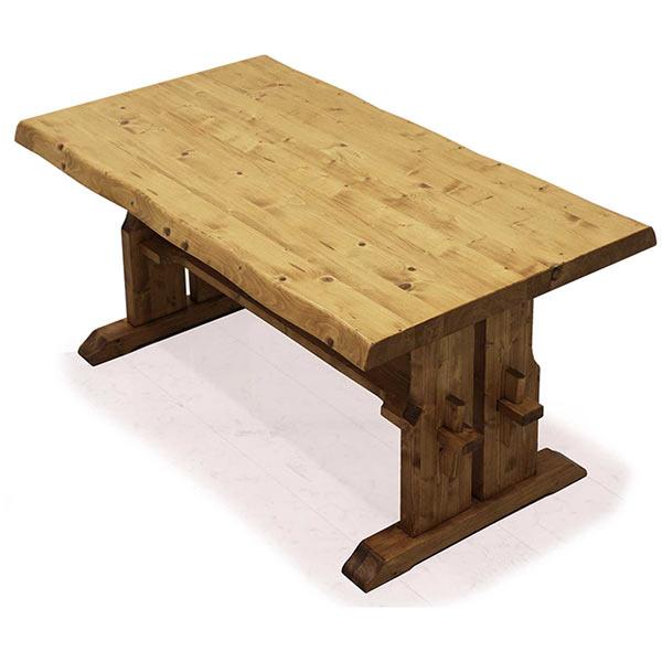 ダイニング テーブル ダイニングテーブル 無垢 パイン無垢材 オーク材 幅150cm 高さ70cm 木目 天然木 なぐり加工 ナチュラル 北欧 モダン おしゃれ 送料無料  通販