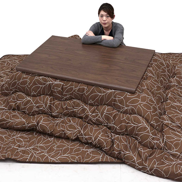 幅120cmこたつテーブルと掛布団・敷布団の3点セット
