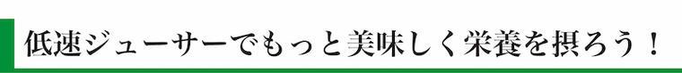 """""""低速ジューサー"""""""