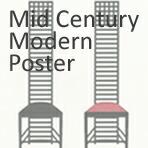 ミッドセンチュリーモダン/アートポスター額装品
