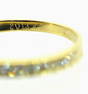指輪の刻印サンプル