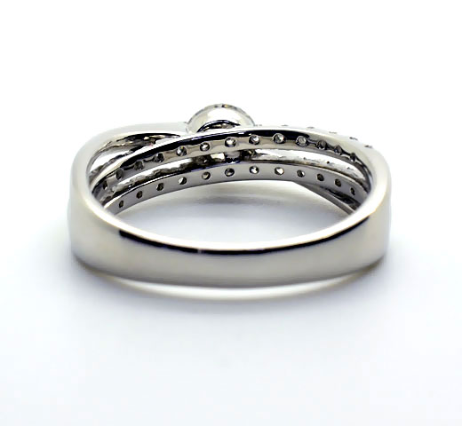 K18WG【0.5ct】ダイヤモンドエンゲージリング