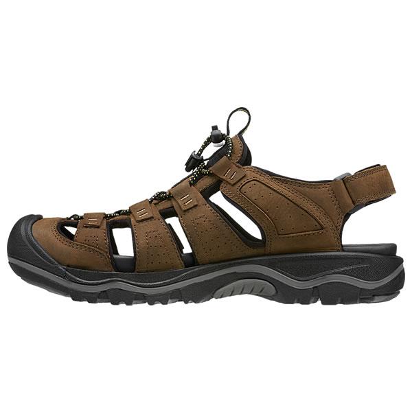 Keen Rialto II Sandals Men Bison/Black 2019 Sandalen braun Sonstige Outdoor-Bekleidung