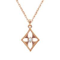 フラワー ネックレス ダイヤモンド