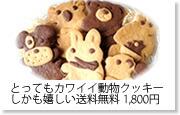 とってもカワイイ動物クッキー(アニマルクッキー) 6種類の動物がセットになって、嬉しい送料無料1800円