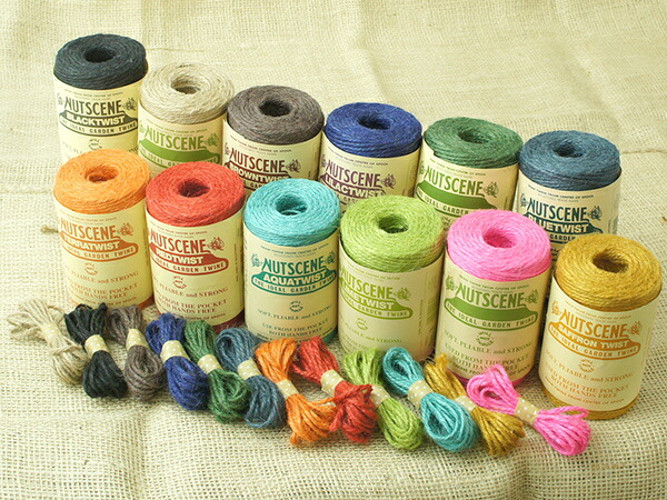 NUTSCENE nuts soon   hemp cord 12 color set (approximately 3 m x 12 colors)  and hemp rope, hemp laces, ribbons, wrapping Twine ♦ Ribbon wrapping the