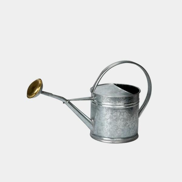 ブリキウォータリングカン,ジョーロ,1.5L,シルバー