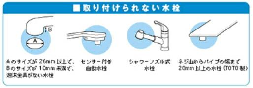 取り付けられない水栓画像
