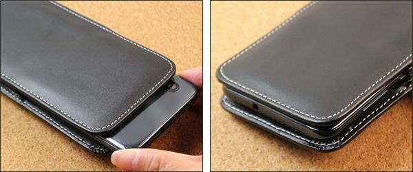 PDAIR レザーケース for Galaxy A30 SCV43 ベルトクリップ付バーティカルポーチタイプ