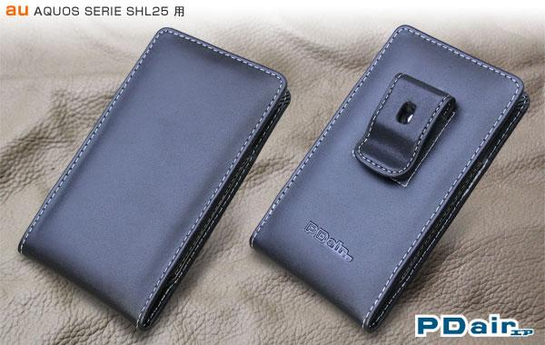 85f029a359 PDAIR レザーケース for AQUOS SERIE SHL25 ベルトクリップ付バーティカルポーチタイプ
