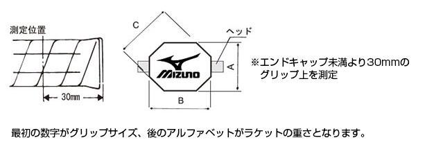 ミズノ 硬式テニスラケット スペック表