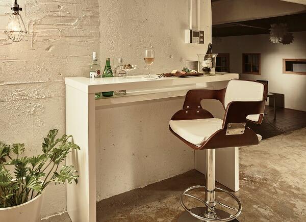 カウンターチェア 幅49cm 奥行51.5cm 高さ89.3~110.8cm ホワイト 積層合板 合成皮革 チェア 椅子 RD-C2381 インテリア 家具 雑貨 セール 送料無料 viventie ヴィヴェンティエ