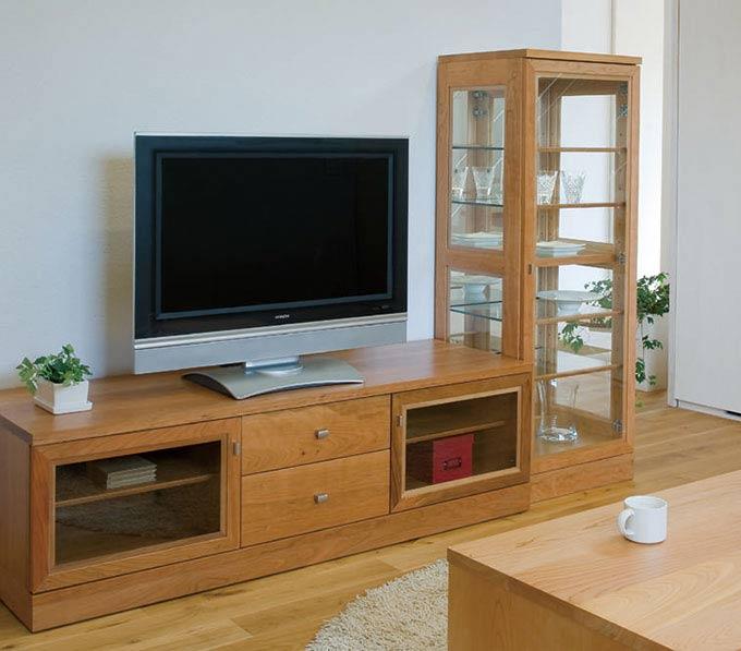 エテルノ チェリー材 テレビボードとキュリオの組み合わせ